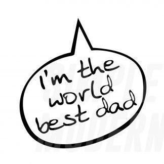 world's best dad svg