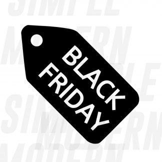 Black Friday Tag in Black