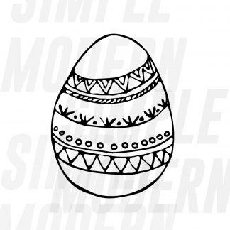 Boho Easter Egg Svg
