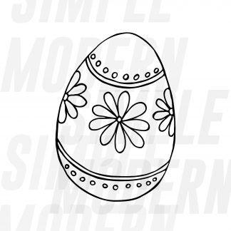 Easter Egg Doodle Sketch