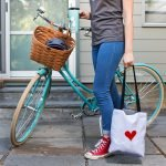 red heart tote