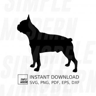 Boston Terrier Dog Silhouette