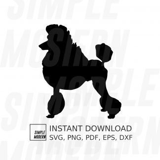 Poodle Silhouette Vector File