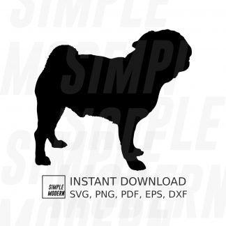 Pug Silhouette Vector File