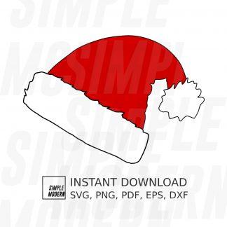 Hand-Drawn Santa Hat SVG