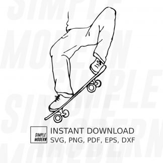 Hand-drawn Skateboard Ollie Vector File