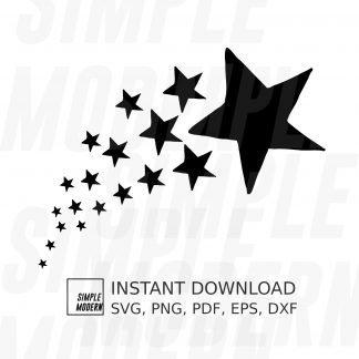 Shooting Stars Drawing svg