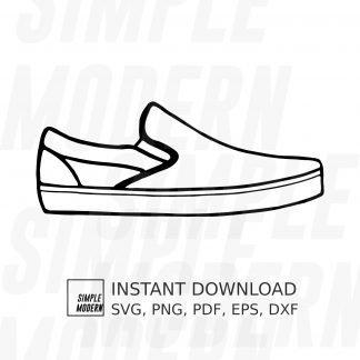 Skateboard Slip-On Shoe SVG