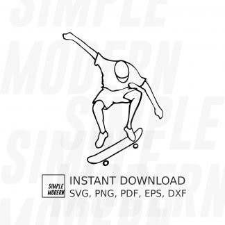 Skateboarder Skateboarding Vector File