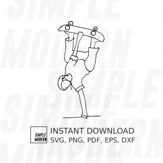Invert Skateboarding SVG