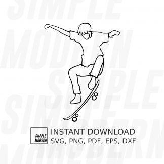 Skater Kickflip Skateboard SVG