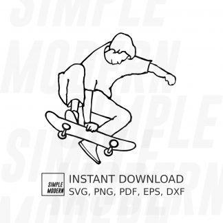 Skater on Skateboard Vector File