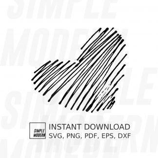 Heart Scribble Sketch Vector