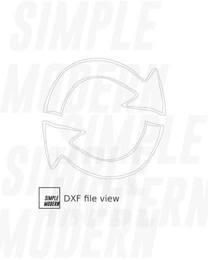 Recycle Hand-drawn Arrow Vector dxf