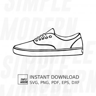 Classic Skateboard Sneaker Drawing