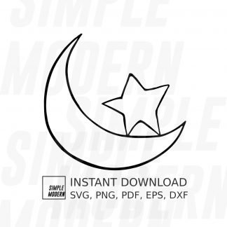 Star and Moon Sign Vector