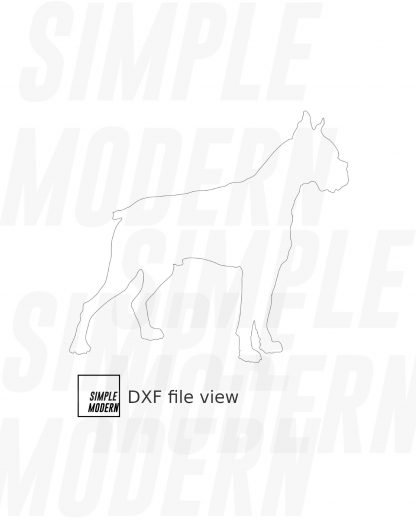 Boxer Dog Silhouette Vector File