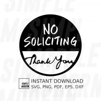No Soliciting Sign Round Cutting File