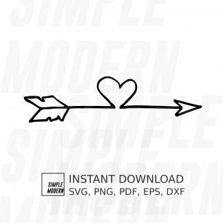 Arrow with Heart SVG