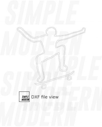 Stick Figure Skateboard Ollie Vector