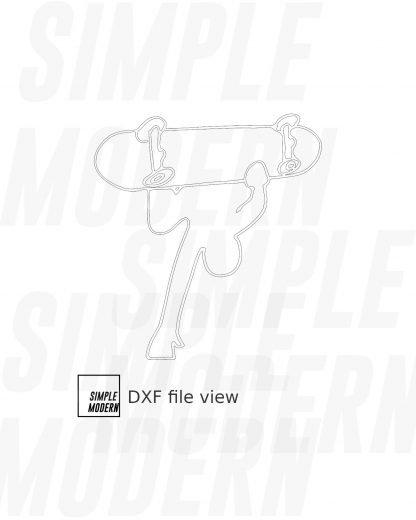 Stick People Skateboard Invert Vector