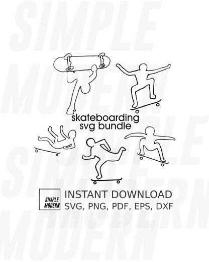 Skateboarding Vector Files Bundle
