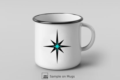 Bright Aqua Christmas Star SVG