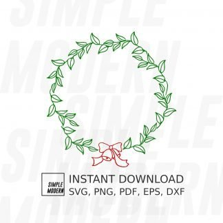 Hand-drawn Christmas Wreath SVG