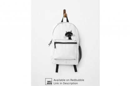Black Fat Round Cat Backpack