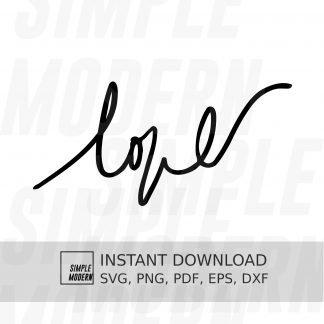 Handwritten Love SVG