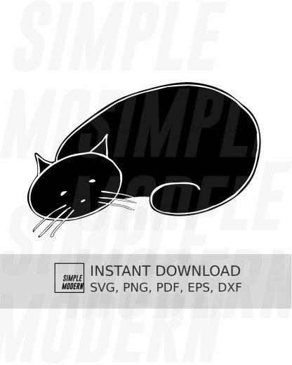 Lazy Sleeping Cat SVG